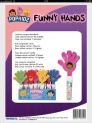 JUGUETES FUNNY HANDS (MANOS) 30UDS POPKIDZ