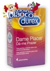 PRESERVATIVOS DUREX DAME PLACER 4UDS