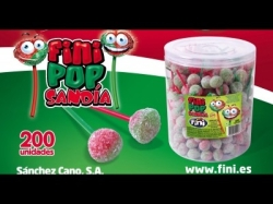 CHUPA FINI POP SANDIA 200UDS