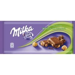 TABLETA MILKA WHOLE NUTS 100GR
